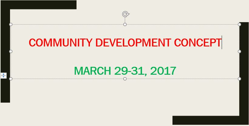 11-Community Development Concept