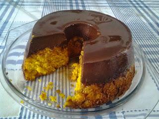 #receita de #bolo de #cenoura com #pudim de #chocolate
