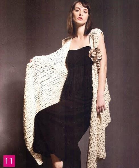 Chal Beige a Crochet