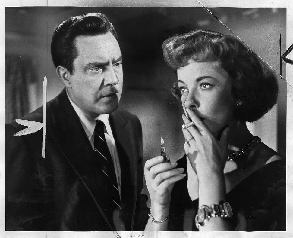 """Edmond O'Brien and Ida Lupino in """"The Bigamist"""" 1953. San Francisco Public Library."""