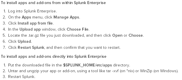 How-to install an app in Splunk