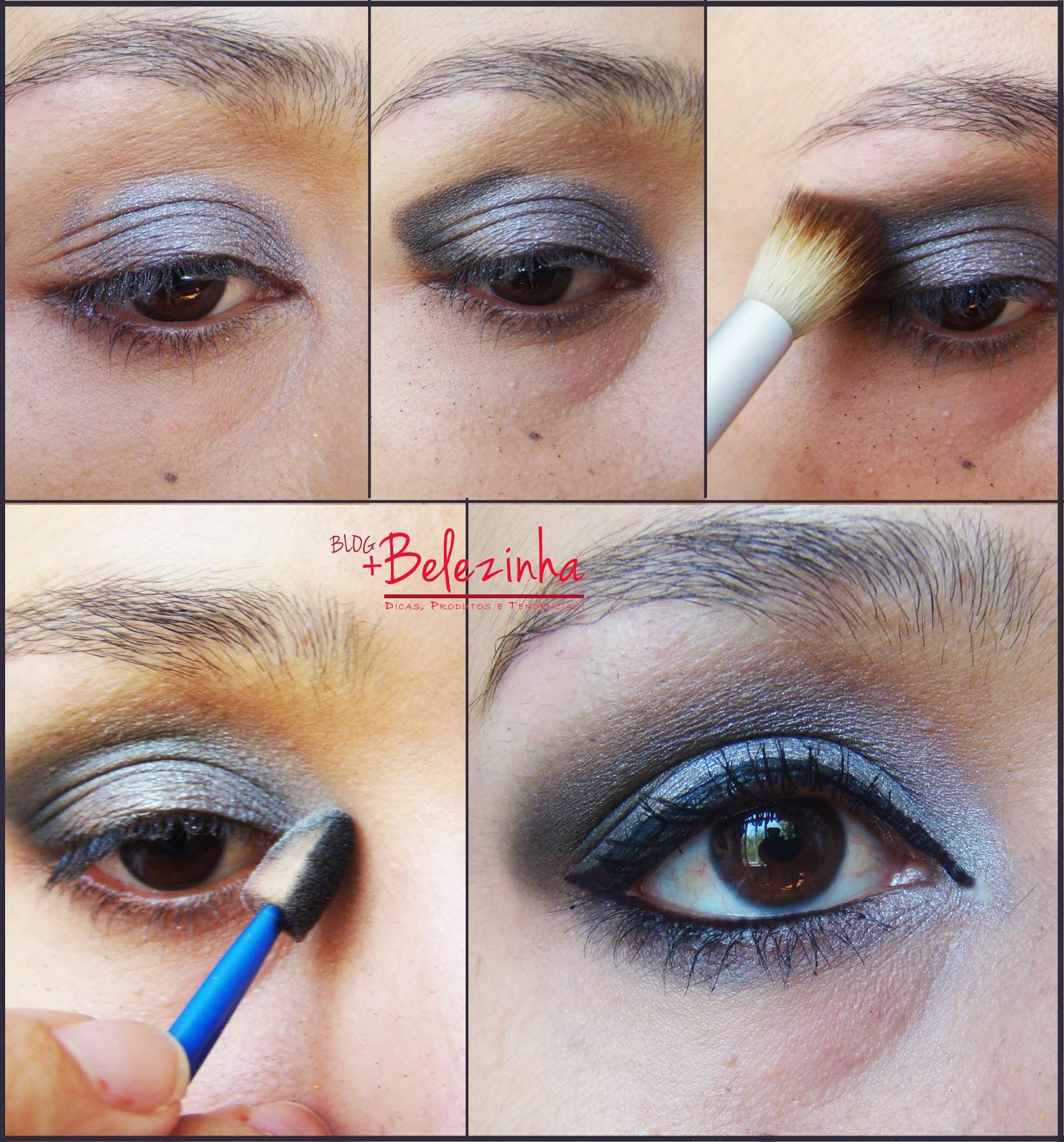 maquiagem-preta-com-prata-festa-fácil