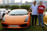 Valentino Balboni, former test-driver, Lamborghini with Mr. Gautam Singhania, Chairman & Managing Director of Raymond Ltd. and Founding Chairman of the SCC
