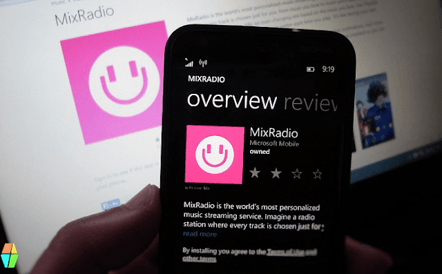 Mixradio app on Lumia