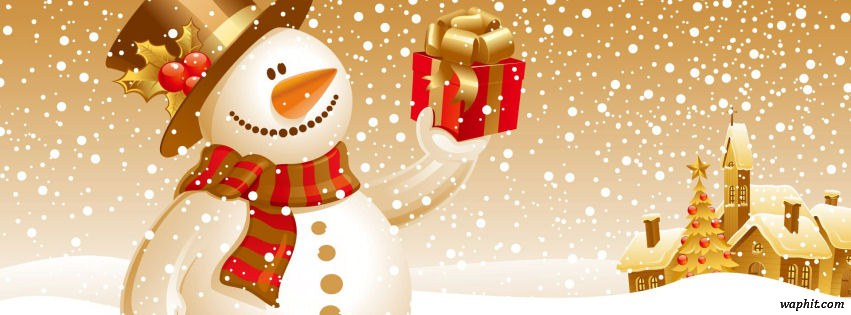 Christmas snowman gift | Facebook Covers | HD Timeline ...