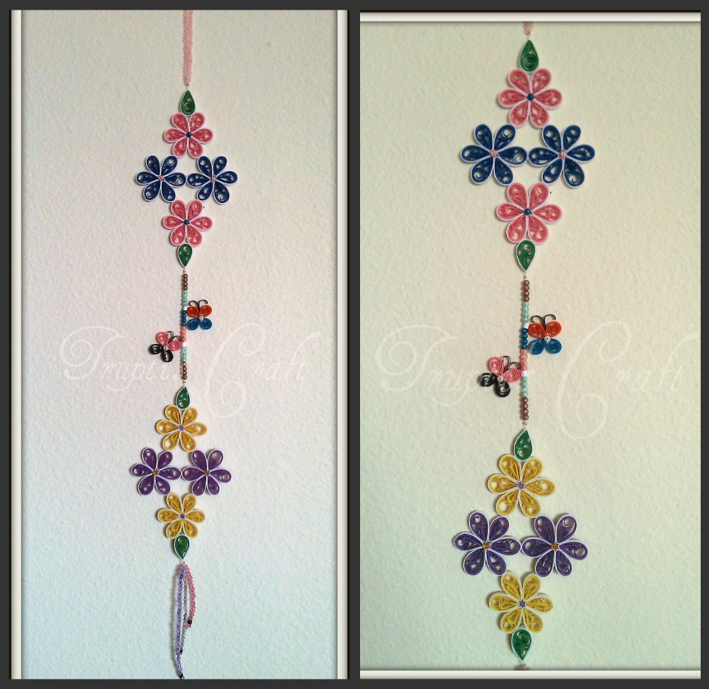 Trupti 39 s craft march 2012 for Waste paper wall hanging
