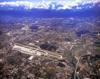 CERN, Geneva, Switzerland dan Sempadan  France