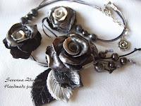 Dark roses of polymer clay
