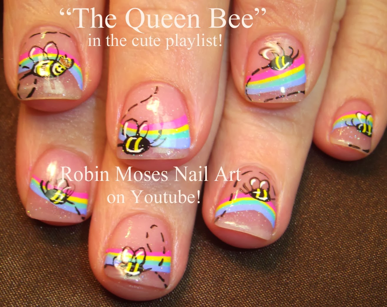 Robin moses nail art pastel leopard print queen bee design pastel leopard print queen bee design queen bee nail art pastel animal print nail art queen bee nails pastel animal queen bumblebee nailart prinsesfo Choice Image