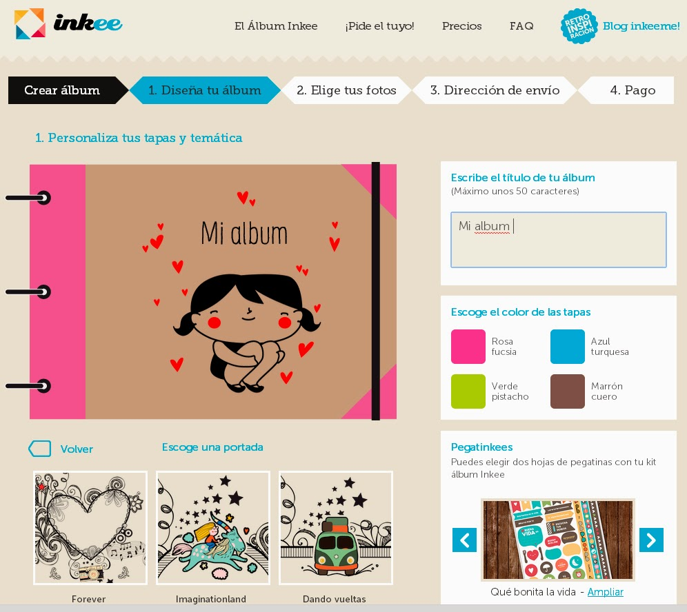 La tienda de dibus + Inkee: álbumes personalizados