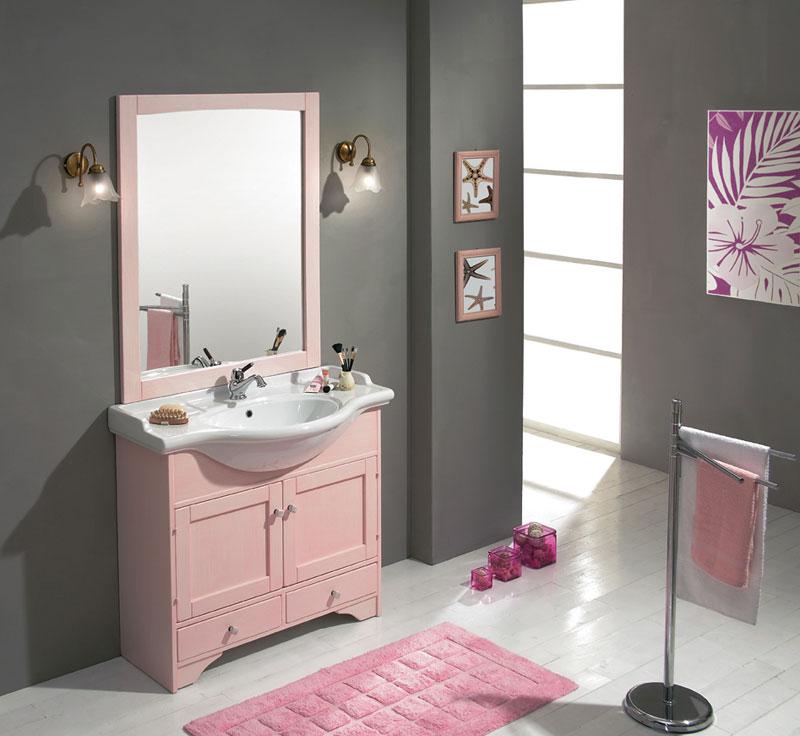 ... arredamento: Idee per arredare o imbiancare un bagno rosa, lilla
