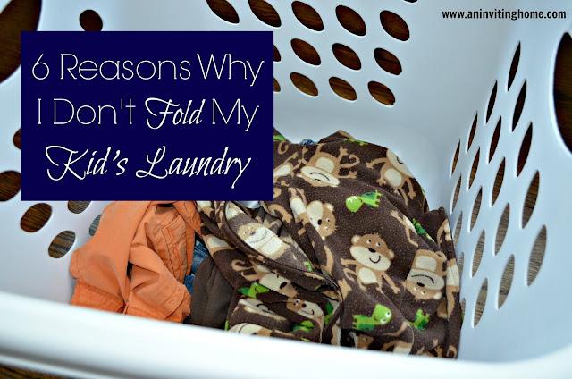 Why I don't fold my kid's laundry