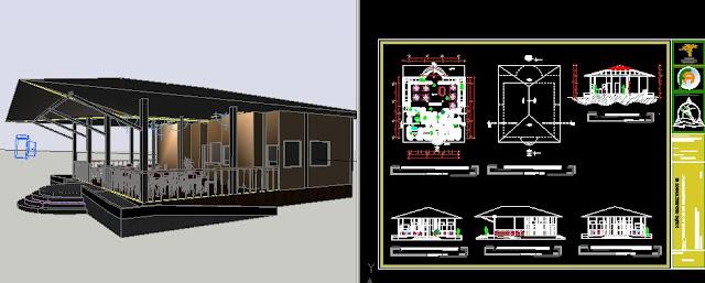 Plan Autocad d'un restaurant dans un parc dwg Plan+Autocad+d'un+restaurant+dans+un+parc+dwg