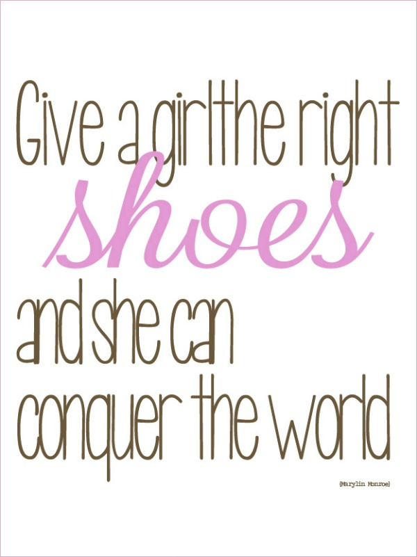 Quote shoes marilyn girls