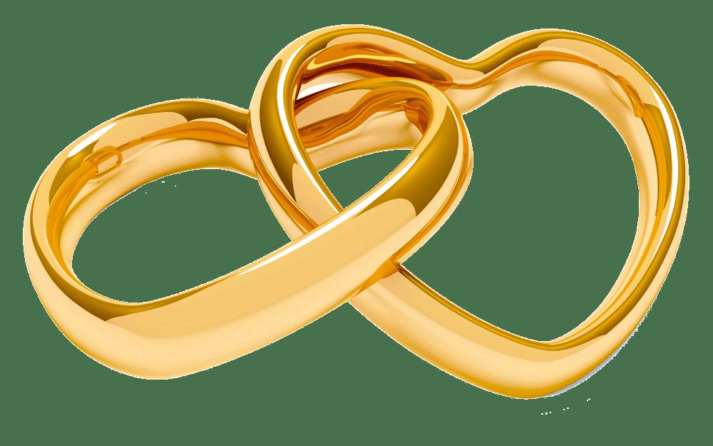 Anillos de boda en vector