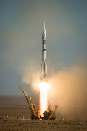 ISS EXPEDITION 38 TAKES OFF