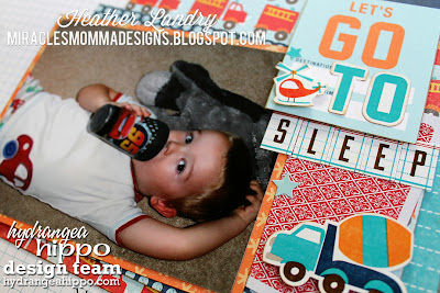 Scrapbook Page_Little Boy_Firetruck