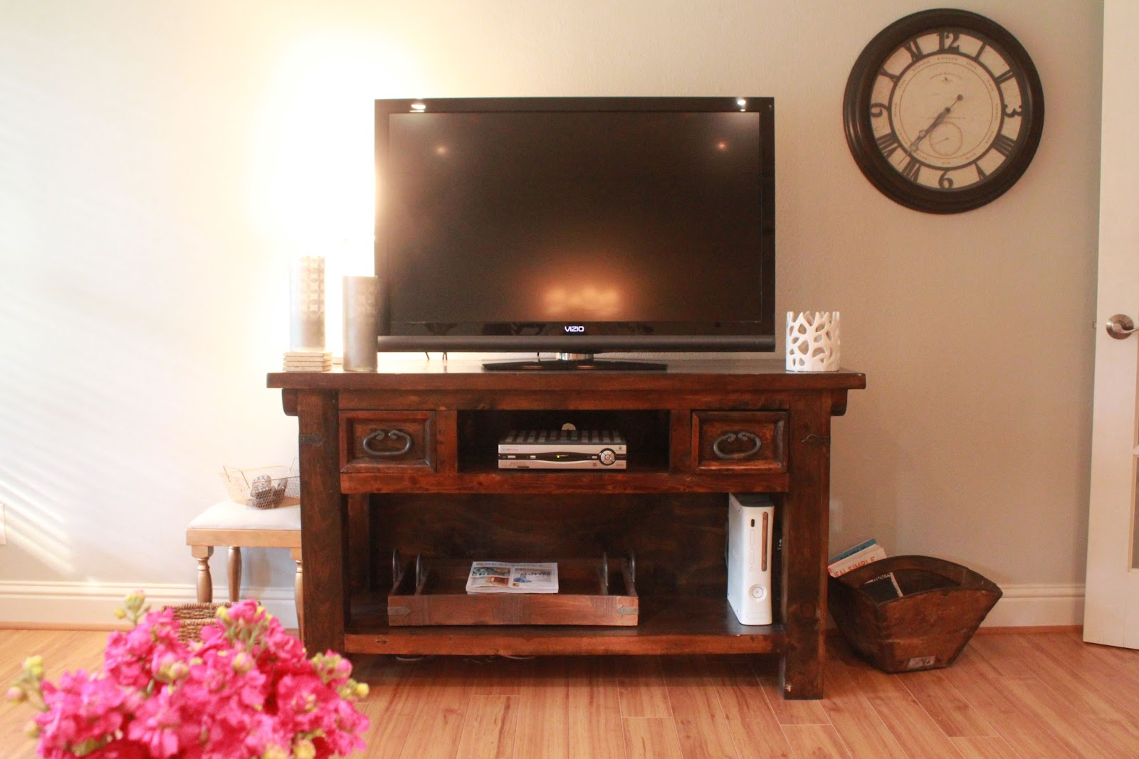 Fresh And Fancy Our Entertainment Center Hiding Tv Cables