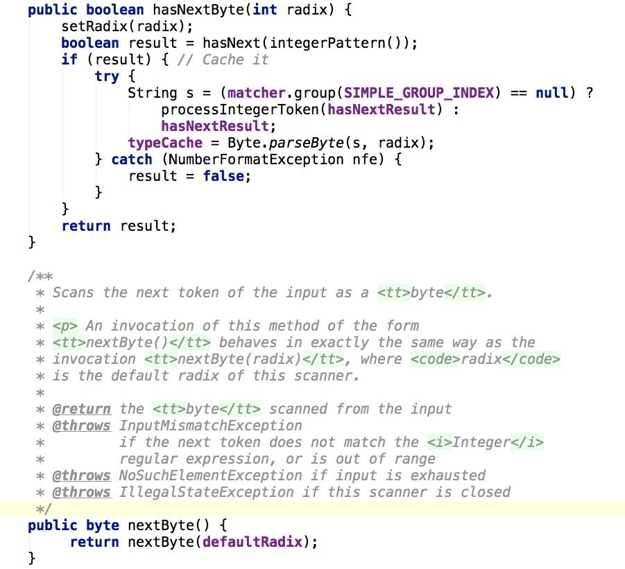 Sleepless Dev: Java Scanner example (JDK auto close, exception ...