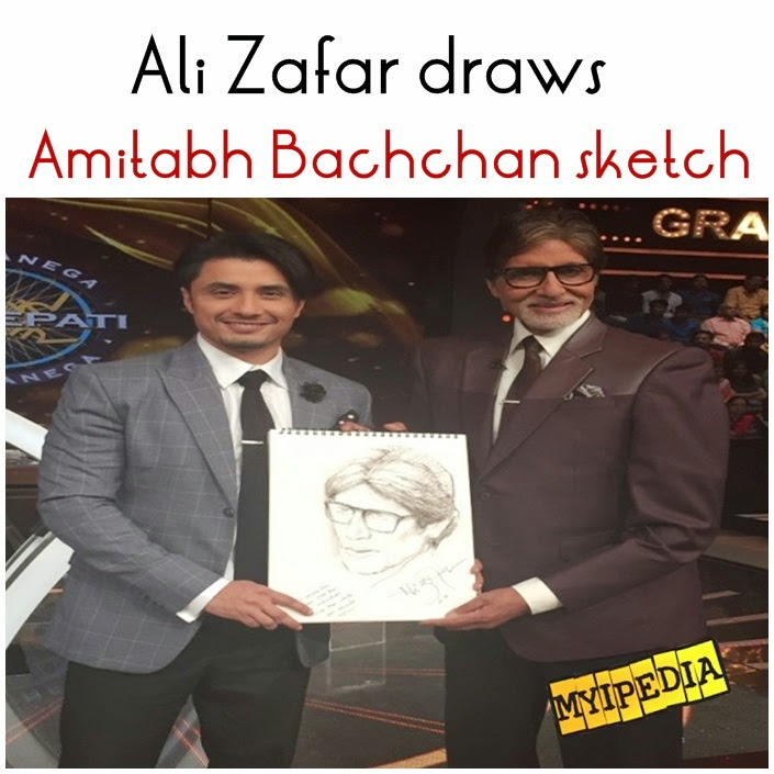 Ali Zafar draws Amitabh Bachchan's sketch Live on TV