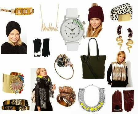 ASOS Sale picks, Those Kinds of Girls, fashion blogger top picks, ASOS accessories, faux fur stole, leather baseball cap hat, statement gold cuff, bejeweled cuff, New York script necklace, black knit turban, fashionable turbans, how to wear a turban, ShopStyle accessories, dragon ring, neon and diamond necklace, statement collar necklace, best winter accessories, affordable statement accessories pieces, oversized scarf with black and green, girls wearing hats, winter in new York city, NYC fashion style, red leather gloves, black and white gloves with bow, New York fashion writers, hunter green cargo tote, affordable handbags, cocktail rings, cozy knit colorful scarf