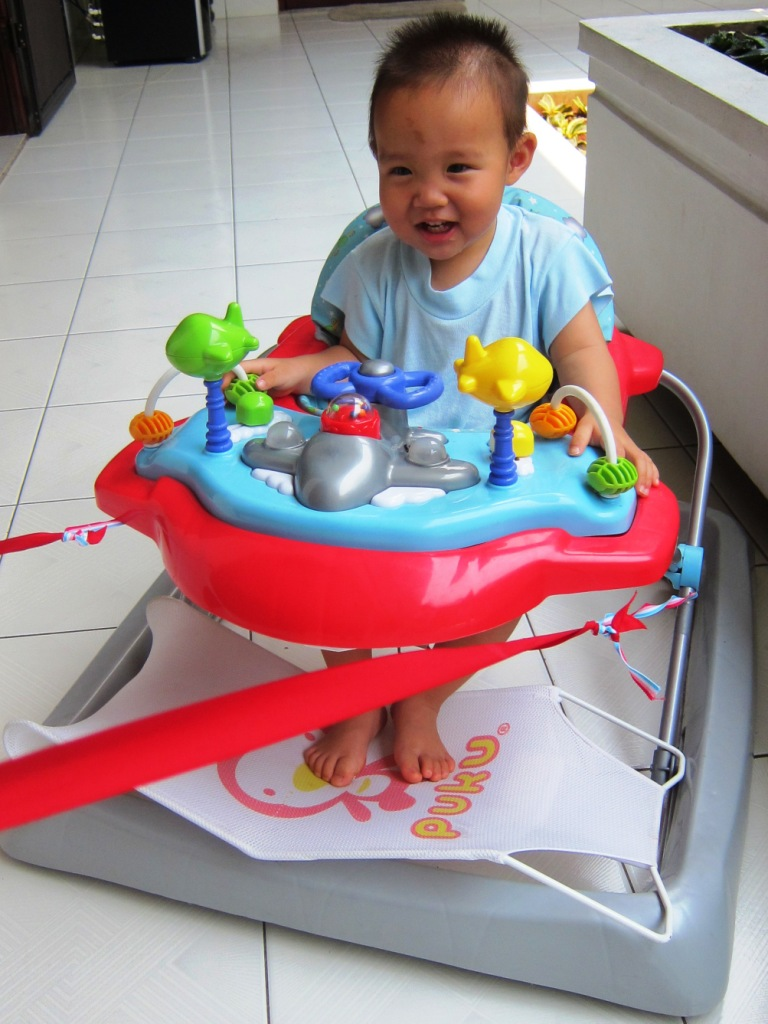 Moments & memories: mom try to be creative with the baby walker