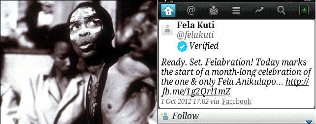Late Fela Kuti Gets Verified On Twitter