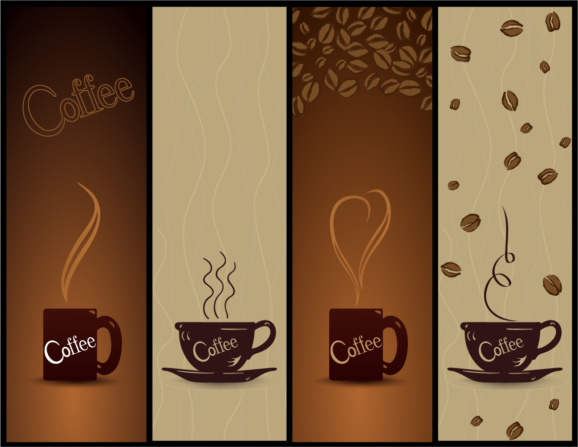free vector coffee banner. Black Bedroom Furniture Sets. Home Design Ideas