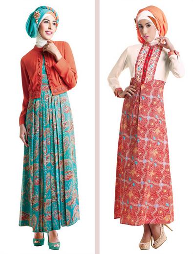 Baju Muslim Kombinasi Brokat