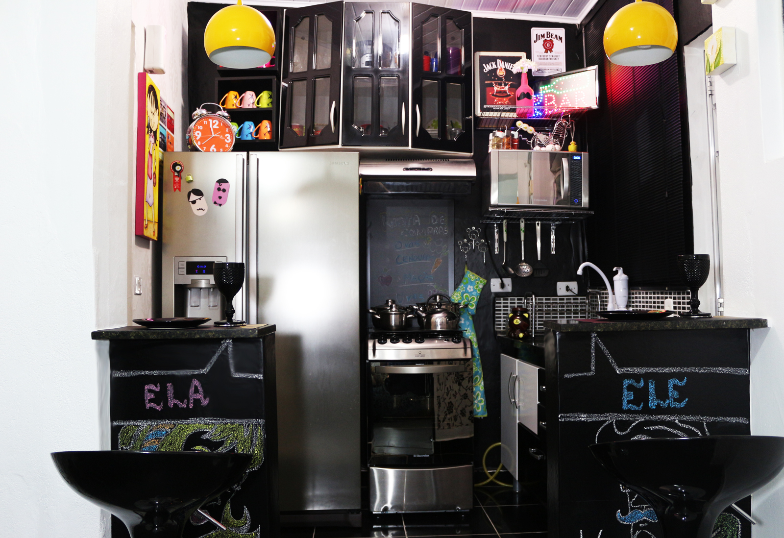 Pequena Notável: Minha cozinha Nova decoração #BE9E0D 1600 1098