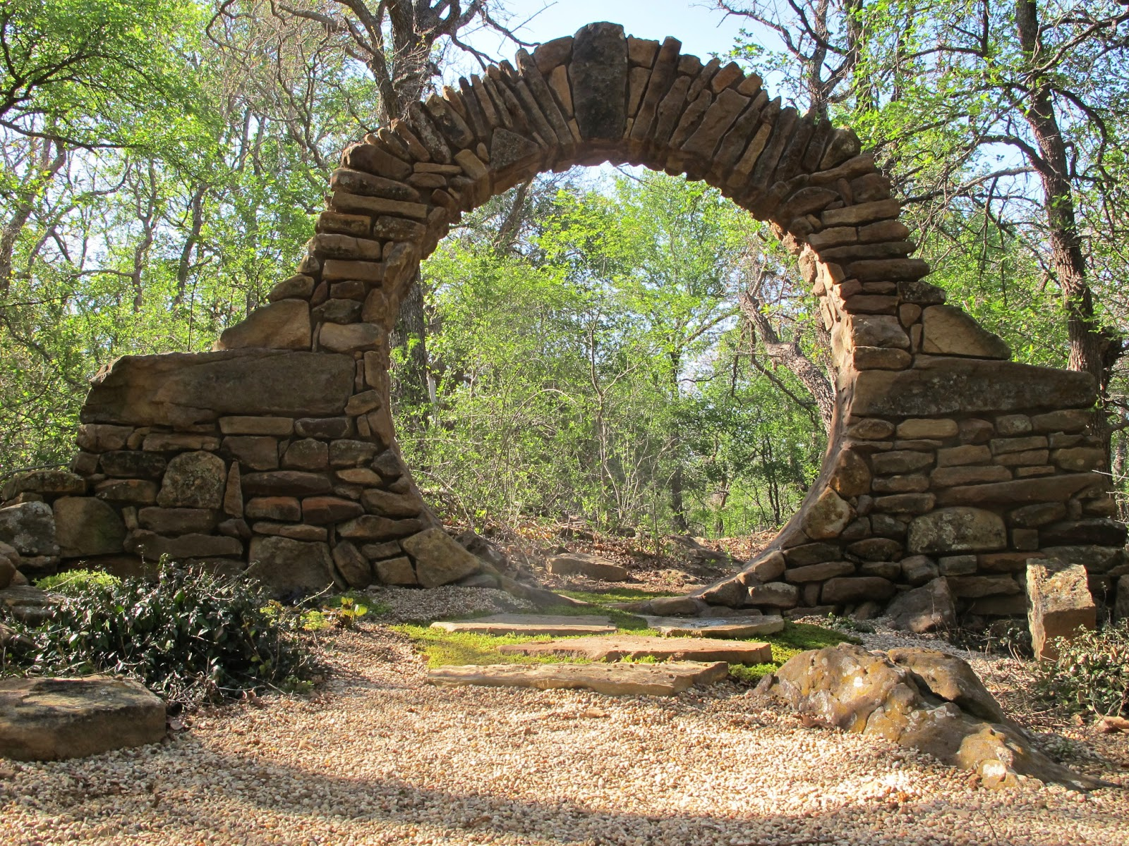 Beautiful Rock Circle Moon Gate If You Are Looking For A Texas Hill Country Wedding Venue