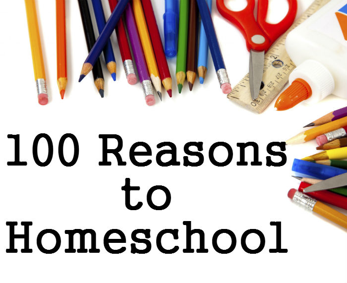 From individualized education to freedom to be themselves, here are 100 reasons to homeschool. www.HeartofMichelle.com