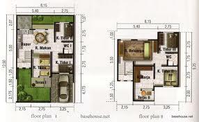 Contoh Desain Denah Rumah  Minimalis