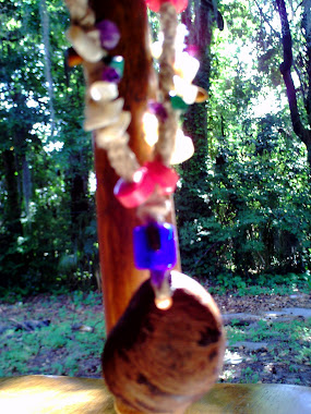 Precious stone hemp necklace by hemp and hamsa
