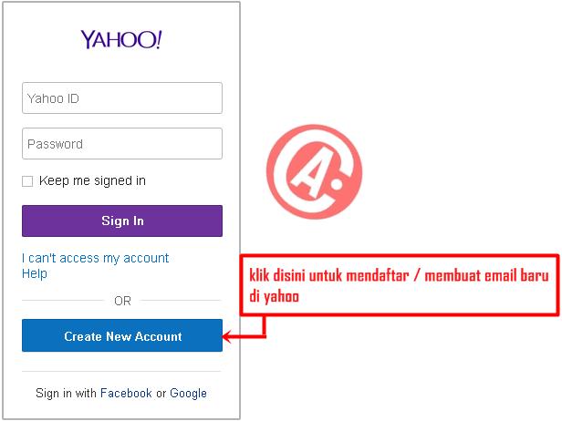cara membuat / mendaftar email baru di yahoo - halaman utama pendaftaran