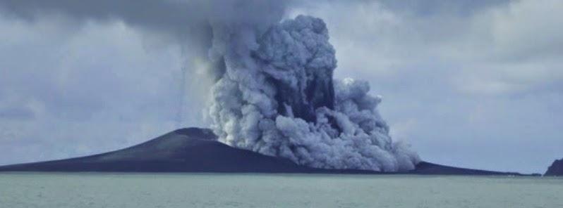 NUEVA ISLA SURGE TRA LA ERUPCION DE VOLCAN SUBMARINO EN TONGA