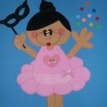 molde boneca bailarina