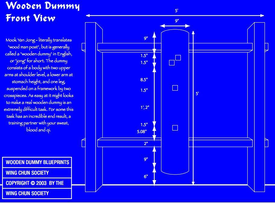 My wing chun dummy blueprint the book of kima my wing chun dummy blueprint malvernweather Choice Image