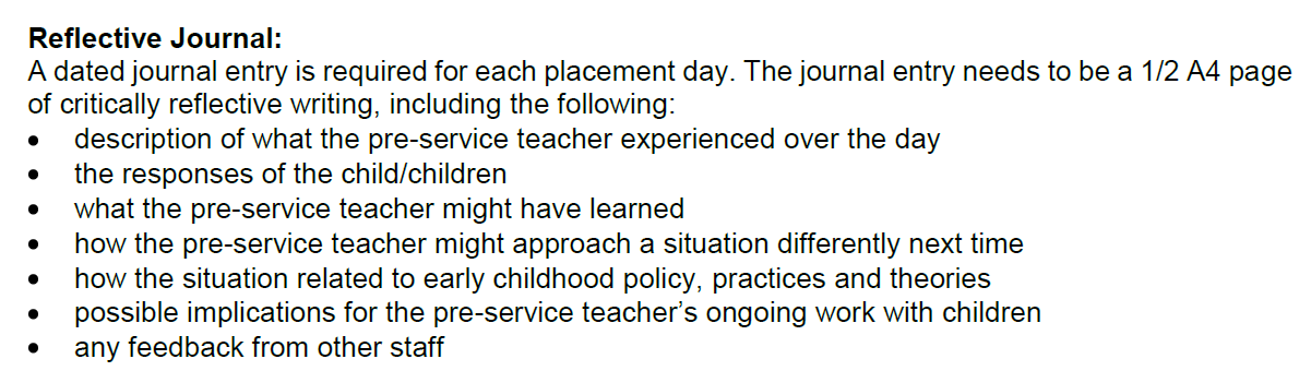 teaching assistant reflective journal Home teaching reflective practice taking the time to reflect: reflections on a reflective practice work as teaching assistants reflective teaching journals.
