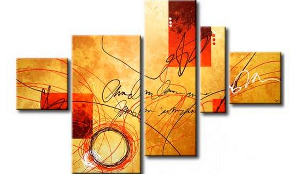 Cuadros pinturas oleos abstractos leo for Imagenes de cuadros abstractos rusticos