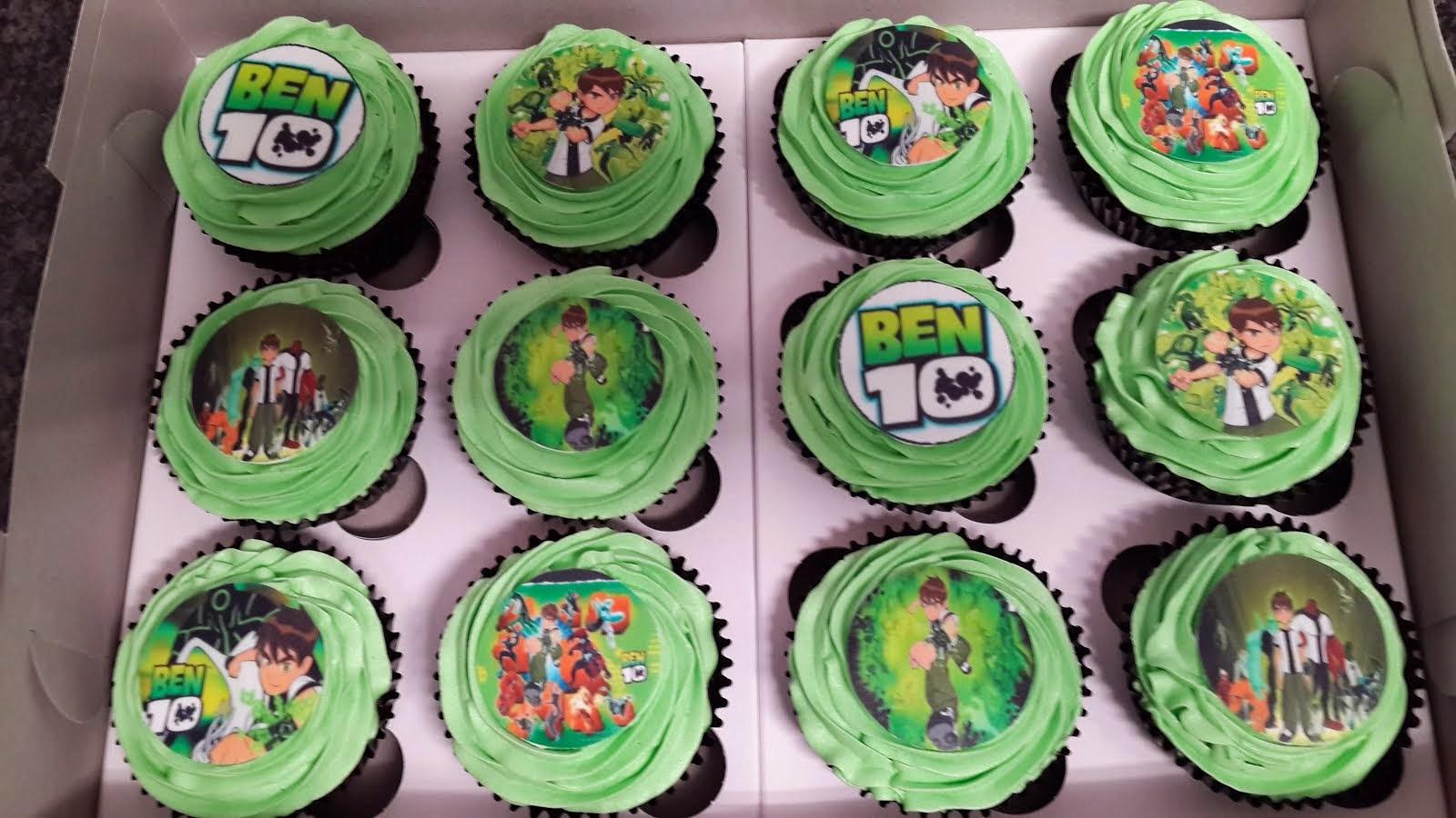 Ben10 Printed Cupcakes
