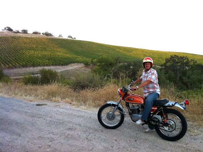 We visited our daughter in college at Berkeley.  The DT-1 riding vineyards in Paso Robles, CA