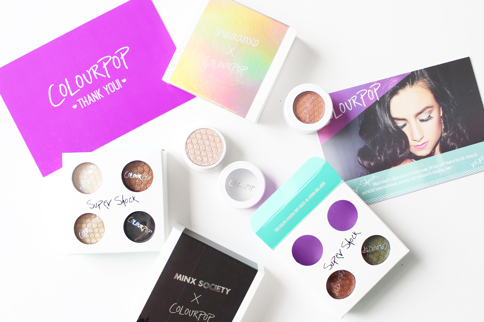 COLOURPOP | Shaaanxo + Minx Society Super Shock Shadow Sets - CassandraMyee