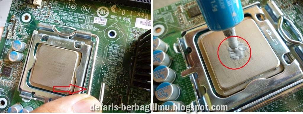 Penguncian dan pemasangan pasta prosesor