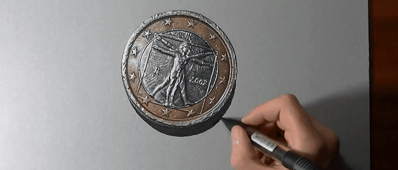 ものすごくリアルなポルシェ・パナメーラのイラストが描かれる過程を撮影
