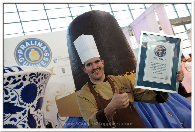 Guinness World Record holder for largest chocolate truffle