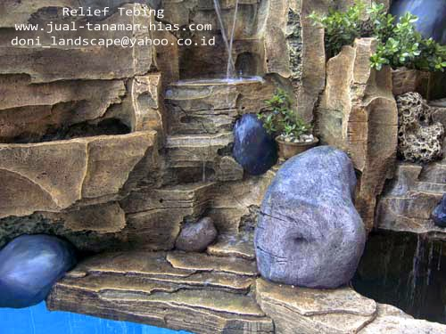 Jasa Pembuatan Model Relief | Relief Buatan | Relief Air Mancur | Batu Alam