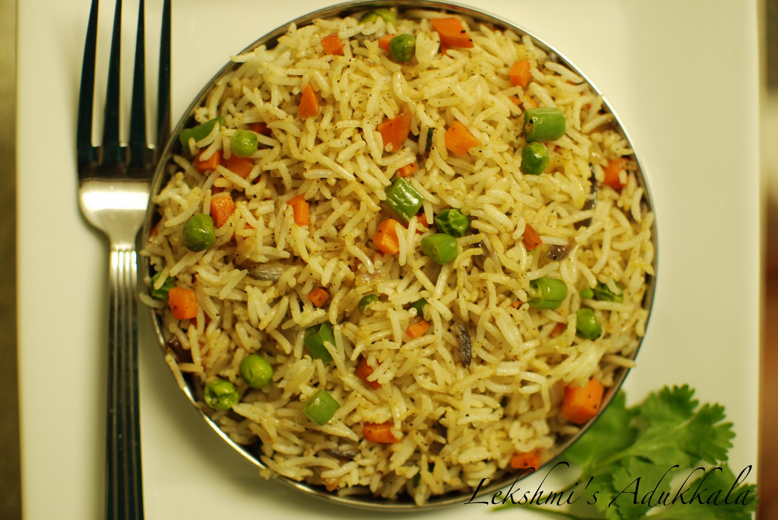 Lekshmi's Adukkala: Vegetable Fried Rice