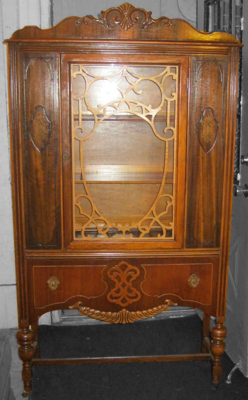 Furniture Pickup Donations Uhuru Furniture & Collectibles: 1930's Walnut China Cabinet SOLD