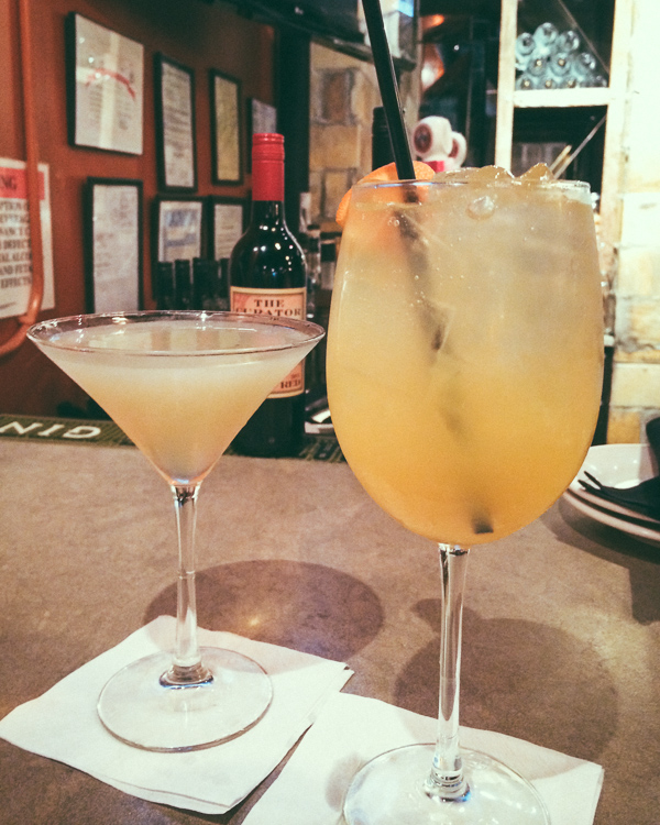 Cocktails at  happy hour at Pomodoro East in Nashville, Tennessee